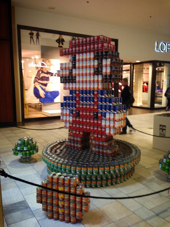 "CANstruction Austin – ""Mario All-Stars: Hunger Busters"""