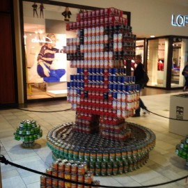 """CANstruction Austin – """"Mario All-Stars: Hunger Busters"""""""